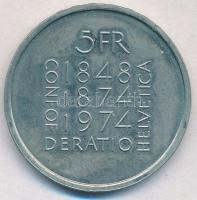 Svájc 1974. 5Fr Cu-Ni Alkotmány módosítás 100. évfordulója T:1- Switzerland 1974. 5 Francs Cu-Ni 100th Anniversary -  Revision of Constitution C:AU