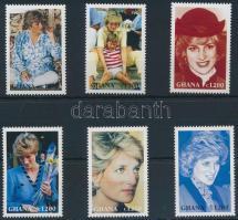 6 values of Princess Diana set, Diana hercegnő sor 6 záróértéke