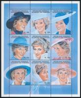 Princess Diana minisheet Diana hercegnő kisív
