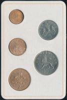 Nagy-Britannia 1968-1971. 1/2p-10p (5xklf) forgalmi sor műbőr tokban T:1,1- Great Britain 1968-1971. 1/2 Penny - 10 Pence (5xdiff) coin set in faux leather case C:UNC,AU