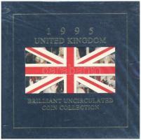 Nagy-Britannia 1995. 1p-2Ł (8xklf) forgalmi sor bontatlan csomagolásban T:BU Great Britain 1995. 1 Penny - 2 Pounds (8xdiff) coin set in sealed plastic case C:BU