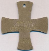 1946. Magyar Vitézségért karton kitüntetés(?) T:2-