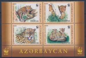 WWF Leopard corner block of 4 WWF kaukázusi leopárd ívsarki négyestömb