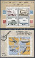 1979-1980 NORWEX International Stampexhibition 2 block 1979-1980 NORWEX nemzetközi bélyegkiállítás 2 blokk