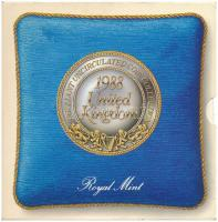 Nagy-Britannia 1988. 1p-1Ł (7xklf) forgalmi sor karton díszcsomagolásban, ragasztó elengedett T:BU Great Britain 1988. 1 Penny - 1 Pound (7xdiff) coin set in cardboard case, glue is loose C:BU