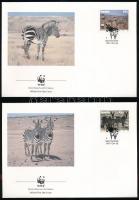 1991 WWF Zebra sor Mi 702-705 4 db FDC-n