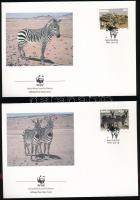 WWF Zebra set 4 FDCs WWF Zebra sor 4 db FDC-n