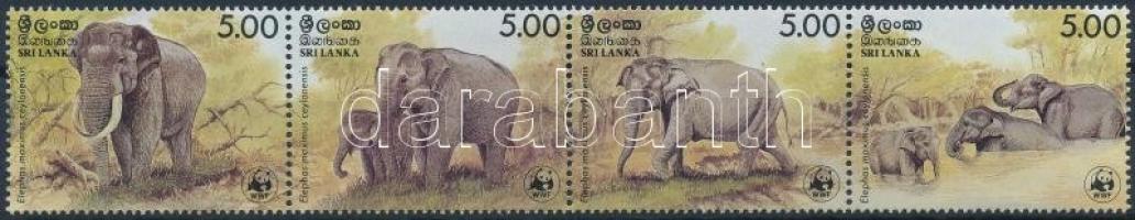 WWF: Elephant stripe of 4, WWF: Elefánt 4-es csík