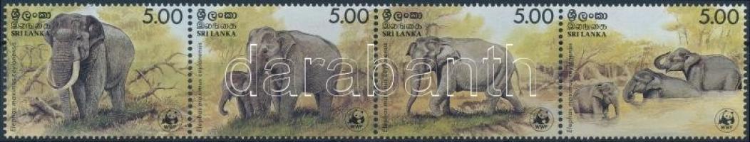 WWF Elephant stripe of 4, WWF: Elefánt 4-es csík