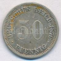 Német Birodalom 1876A 50pf Ag T:2- German Empire 1876A 50 Pfennig Ag C:VF Krause KM#6