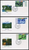 Éghajlati zónák ívszéli sor 5 db FDC-n, Climatic zones margin set on 5 FDC