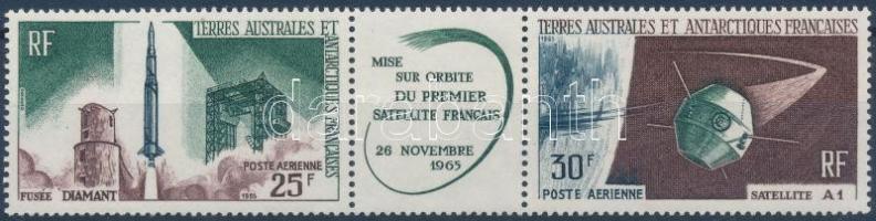 First french satellite stripe of 3 Első francia műhold hármascsík