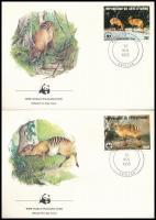 WWF Zebra-antelope set on 4 FDC WWF Zebra-bóbitásantilop sor 4 db FDC-n