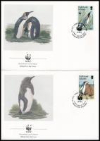 WWF Penguin 4 FDC WWF: Pingvin 4 db FDC
