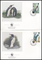 WWF Pinguin set on 4 FDC WWF: Pingvin sor 4 db FDC-n