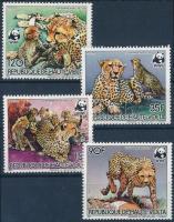 1984 WWF Gepárd sor Mi 957-960 A