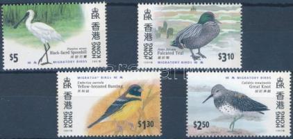 2000 HONG KONG nemzetközi bélyegkiállítás, vándormadarak sor Mi 958-961