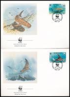 WWF: Animals of the sea 4 pcs on FDC WWF: Tengeri állatok sor 4 db FDC-n