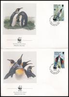 WWF: Penguin 4 FDC WWF: Pingvin 4 db FDC