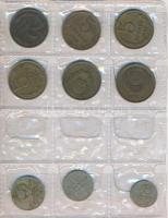 Szovjetunió 1955-1989. vegyes éremgyűjtemény, négylapos berakóban 1-2-5-10-15-20k címletek + 1991. 10R Kreml T:vegyes Soviet Union 1955-1989. mixed coin lot in four page album, 1-2-5-10-15-20 Kopeks denominations + 1991. 10 Rubles Kreml C:mixed