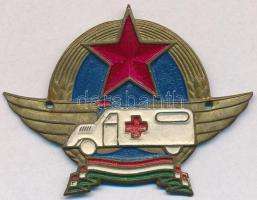 ~1952. Rákosi címeres mentős festett, lemez sapkajelvény T:2