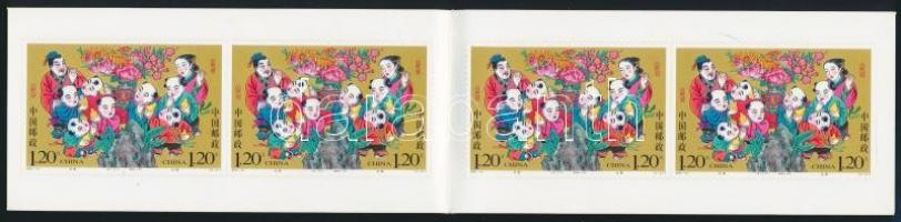 Legend of Kong Rong and the Pears stamp booklet with self-adhesive stamps, Legenda Kong Rongról és a körtékről bélyegfüzet öntapadós bélyegekkel
