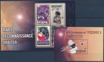 Space Research minisheet + block, Űrkutatás kisív  + blokk