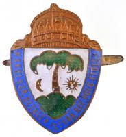 ~1930. Makói s. Gr. Bethlen István Református Polgári Fiúiskola zománcozott sapkajelvény (35,5x50,5mm) T:2