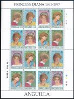 1998 Diana hercegnő teljes ív Mi 996-999