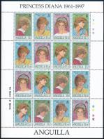 Princess Diana complete sheet, Diana hercegnő teljes ív