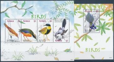 Birds mini sheet + block, Madár kisív + blokk