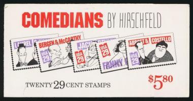 Caricatures stamp booklet, Karikatúrák bélyegfüzet