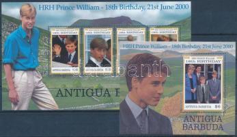 Vilmos herceg kisív  + blokk, Prince William minisheet + block