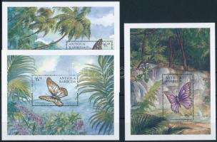Butterflies minisheet set + block set, Pillangó kisívsor + blokksor