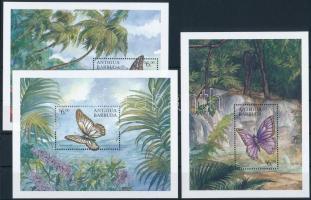 Butterfly minisheet set + block set, Pillangó kisívsor  + blokksor