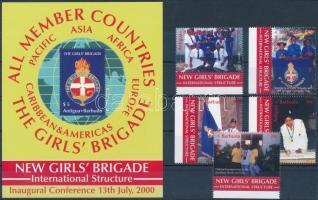The girls' brigade margin set + block, Női brigád ívszéli sor + blokk