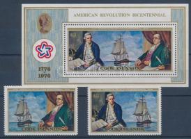 Independence of the USA set + block, 200 éve független az Egyesült Államok sor + blokk