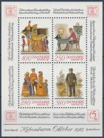 International stamp exhibition block HAFNIA Nemzetközi Bélyegkiállítás blokk