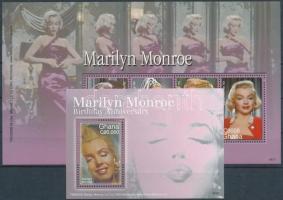 Marilyn Monroe's 80th birth centenary mini sheet + block Marilyn Monroe születésének 80. évfordulója kisív + blokk
