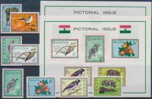 flora and fauna set + blockset, Növény- és állatvilág sor  + blokksor