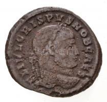 Római Birodalom / Sirmium / Crispus 324-325. AE Follis (2,83g) T:2- Roman Empire / Sirmium / Crispus 324-325. AE Follis IVL CRISPVS NOB CAES / ALEMANNI-A DEVICATE - .SIRM. (2,83g) C:VF RIC VII 161.