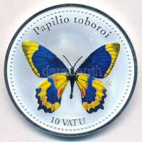 Vanuatu 2006. 10V ezüstözött Cu-Ni Papilio toboroi T:PP Vanuatu 2006. 10 Vatu silver plated Cu-Ni Papilio toboroi C:PP Krause KM#45