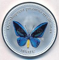 Vanuatu 2006. 10V ezüstözött Cu-Ni Ornithoptera priamus urvillianus T:PP Vanuatu 2006. 10 Vatu silver plated Cu-Ni Ornithoptera priamus urvillianus C:PP Krause KM#47