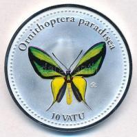 Vanuatu 2006. 10V ezüstözött Cu-Ni Ornithoptera paradisea T:PP Vanuatu 2006. 10 Vatu silver plated Cu-Ni Ornithoptera paradisea C:PP Krause KM#48