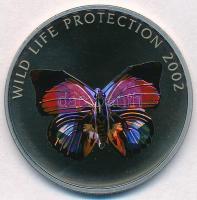 Kongói Demokratikus Köztársaság 2002. 5Fr Cu-Ni Vadvédelem - Pillangó hologramos forgalmi emlékpénz T:1 Congo Democratic Republic 2002. 5 Francs Cu-Ni Wild Life Protection - Butterfly commemorative coin with hologram C:UNC Krause KM#58