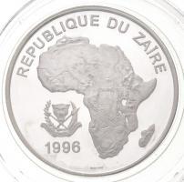 Zaire 1996. 500Z Ag Gorilla T:PP fo. Zaire 1996. 500 Zaires Ag Gorilla C:PP spotted Krause KM#21