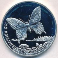 Lengyelország 2001. 20Zl Ag Fecskefarkú lepke T:PP fo. Poland 2001. 20 Zlotych Ag European Swallowtail Butterfly C:PP spotted Krause Y#415