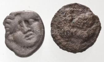 Piszídia / Szelge Kr. e. ~350-300. Obolus Ag (0,9g) + Kr. e. II-I. század AE érme (1,23g) T:2-,3 Pisidia / Selge~350-300. BC Obol Ag (0,9g) + 2nd-1st century BC. AE coin (0,9g) C:VF,F