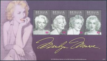 Marilyn Monroe mini sheet, Marilyn Monroe kisív