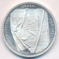 NSZK 1990J 10M Ag 800 éves a Német Lovagrend T:1-(PP)  GFR 1990J 10 Mark Ag 800th Anniversary - The Teutonic Order C:AU(PP) Krause KM#176